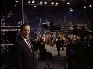 On Stage Two, Walt begins to point out all the important people behind the scenes of filming