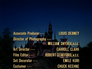 Louis Debney as the associate producer for an episode of the Wonderful World of Color