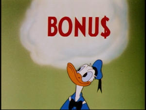 When the boss has an important announcement, Donald thinks that he'll be getting a nice bonus