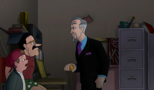 Benedict confronts Prickly and T.J., with Prickly telling T.J. that the two used to work together