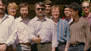 Catmull (L) with the rest of the Pixar team from Lucasfilm