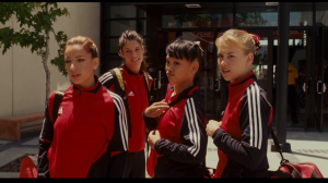 The team arrives at the Classic, where other gymnasts are not willing to give Haley a second chance