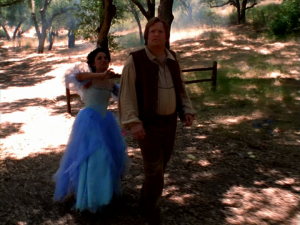 The Blue Fairy stops by, once again using magic to teach Geppetto a valuable lesson on fatherhood