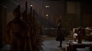 Jessica, possessed, awakens the terra cotta soldiers