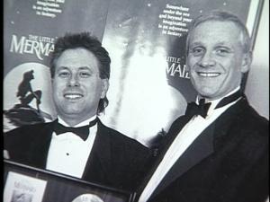 Menken (L) and songwriting partner Howard Ashman