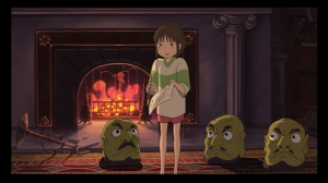 Chihiro, after her persistent asking, is given a contract by Yubaba