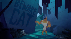True to form, Kronk misses the signs that he's heading into a dangerous area