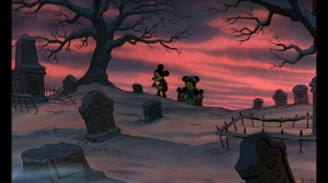 Cratchit and his family mourn the loss of their youngest child, Tiny Tim
