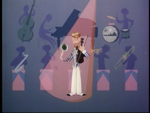Ludwig moves to the Great Depression era of songs, and turns to a picture of a signer with a backing band