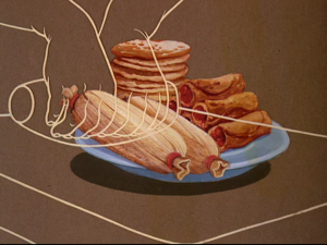 A list of foods made from corn is shown through animation
