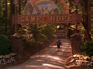 The bus arrives at Camp Hope, with everyone unaware of what danger the summer will bring