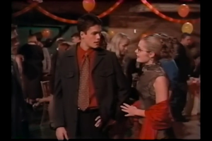 Janine tries to explain everything to Eric at the Fall Ball, but he is soon pulled away by Mindy