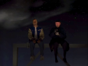 Bob confronts the Devil, with the Devil giving a cryptic message that Eddie won't make the game