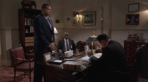 Simms is called into Morton's office to discuss his new assignment: Luke's new personal agent