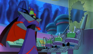 Zurg tortures the LGMs for information on their mind unification, known as the Uni-Mind