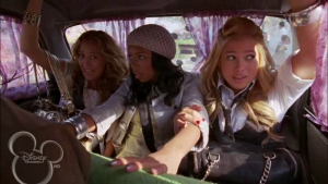 The girls' first activity in India is a crazy cab ride through the streets