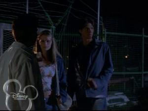 Zachary helps sneak Vicky and Adam into the shipyard that night to find the illegal nets
