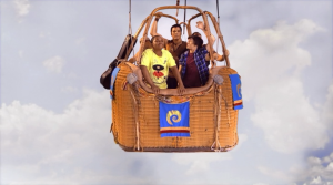 The twins travel with Mason in a hot air balloon to reach Kinkow