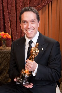 "Oscar®-winning producer Lee Unkrich, winner for Best Animated Feature Film of the Year for work on ""Toy Story 3,"" poses backstage during the live ABC Television Network broadcast of the 83rd Annual Academy Awards® from the Kodak Theatre in Hollywood, CA Sunday, February 27, 2011."
