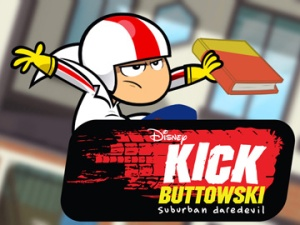 """KICK BUTTOWSKI - SUBURBAN DAREDEVIL - """"If Books Could Kill/There will be Nachos"""" - Gunther accidently returns Kick's new book signed by his idol Billy Stumps to the library. When the librarian refuses to return it, Kick challenges her no-return policy and vows to get it back by any extreme means necessary. Meanwhile, Brad throws the party of the year while his parents are out of town and does everything in his power to keep Kick out, but Kick is determined to make it into the party and score some of Brad's famous nachos. This episode of """"Kick Buttowski - Suburban Daredevil"""" airs SATURDAY, FEBRUARY 13 (9:30 a.m.-10:00 a.m., ET/PT) on Disney XD. (DISNEY XD) KICK BUTTOWSKI"""